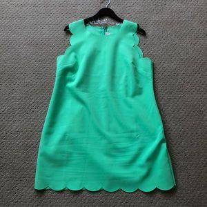 Jcrew Scalloped Edge Dress